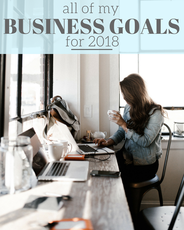 My Goals for Each of my Businesses in 2018!